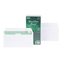 Basildon DL Env Peel Seal Wht Pk100
