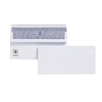 Plus Fabric Wht DL Envelope S/Seal Pk500
