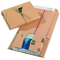 Brown 145x126x55mm Mailing Box Pk20