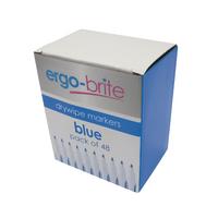Ergo-Brite Blue Drywipe Markers Pk48
