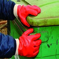 Shield PVC Knitwrist Glove Size 10 Red