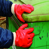 Polyco PVC Knitwrist Glove Size 10 Red