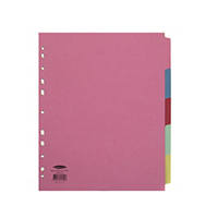Concord A4 Ex-Wide Subject Divider 5-Prt