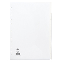 Concord A4 10 Part Subject Divider 79701