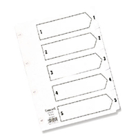 Concord A5 Index 1-5 Board Clear Tabs