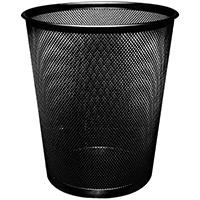 QConnect Mesh Waste Basket Blk Kf00871