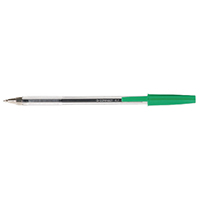 Q-Connect Med Green Ballpoint Pen Pk50