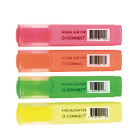 Q-Connect Highlighter Pen Asstd Pack-4