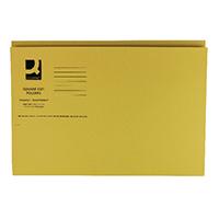Q-Connect Yellow Sq Cut Folder 250g P100