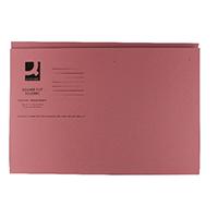 Q-Connect Pink Sq Cut Folder 250gsm P100