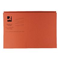 Q-Connect Ornge Sq Cut Folder 250g Pk100