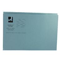 Q-Connect Blue Sq Cut Folder 250gm Pk100