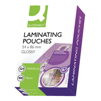Q-Connect Laminating Pouch 54x86mm 125Mc