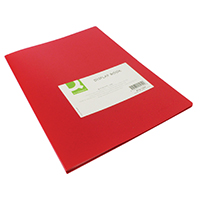 Q-Connect 20 Pocket Red Display Book