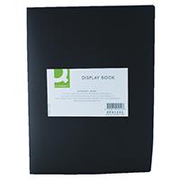 Q-Connect 20 Pocket Black Display Book