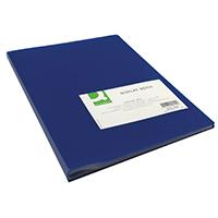 Q-Connect 40 Pocket Blue Display Book