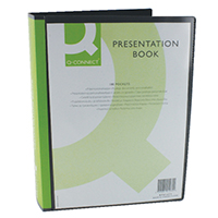 Q-Connect Black 100Pkt Pres Display Book