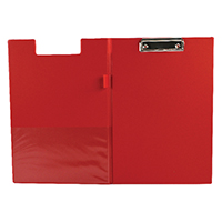 Q-Connect Foldover Red PVC Clipboard