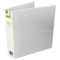 Q-Connect 40mm A4 White 4D-Ring Binder