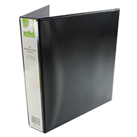 Q-Connect Blk A4 Pres 4DRing Binder 40mm