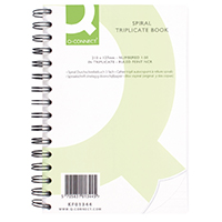 Q-Connect Carbonless Triplct Book 8x5in