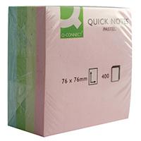 Q-Connect Pastel Quick 76x76mm Note Cube