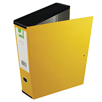 Q-Connect Yellow FC Box File 75mm Pk5