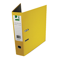 Q-Connect Yellow P/Backed Lever Arch P10