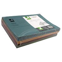 Q-Connect Asstd Sq Cut Folder 250g Pk100