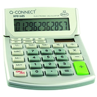 Q-Connect Semi-Desktop Calc 12-digit