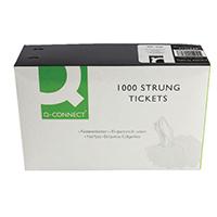 Strung Ticket 37x24mm White Pk1000