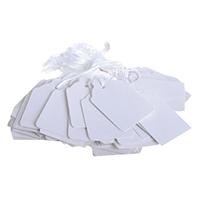Strung Ticket 41x25mm White Pk1000