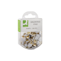 Q-Connect Drawing Pin White Pk1200