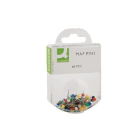 Q-Connect Assorted Map Pins Pk600
