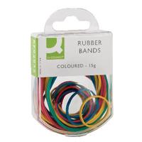 Q-Connect Rubber Bands 15Gm Asstd Col