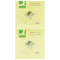 Q-Connect Fanfold 75x75 Quick Notes Pk12