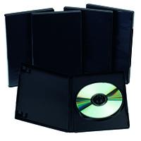 Q-Connect Black DVD Case - Pk5