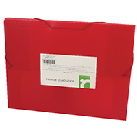 Q-Connect Red Elasticated Box File
