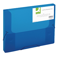 Q-Connect Blue Elasticated Box File