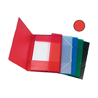 Q-Connect A4 Red Elasticated Folio
