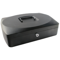 Q-Connect 10in Black Cash Box