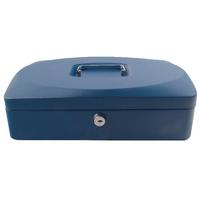 Q-Connect 12in Blue Cash Box