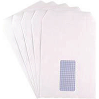 Q-Connect White C5 Window Envelopes Pk25