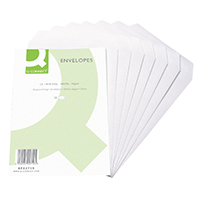 Q-Connect White C5 Envelope S/Seal Pk25