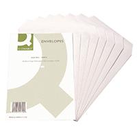 Q-Connect White C4 Envelope S/Seal Pk25