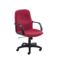 FF Jemini Manager Star Leg Chair Claret