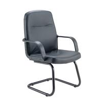 FF Jemini Visitor Chair Canti Legs Blk