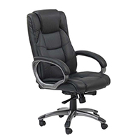 FF Arista Executive Leather Chair Black