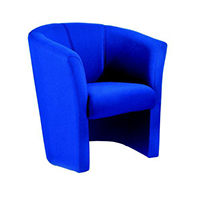 FF Jemini Tub Fabric Chair Blue