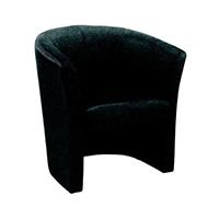 FF Jemini Tub Fabric Chair Charcoal